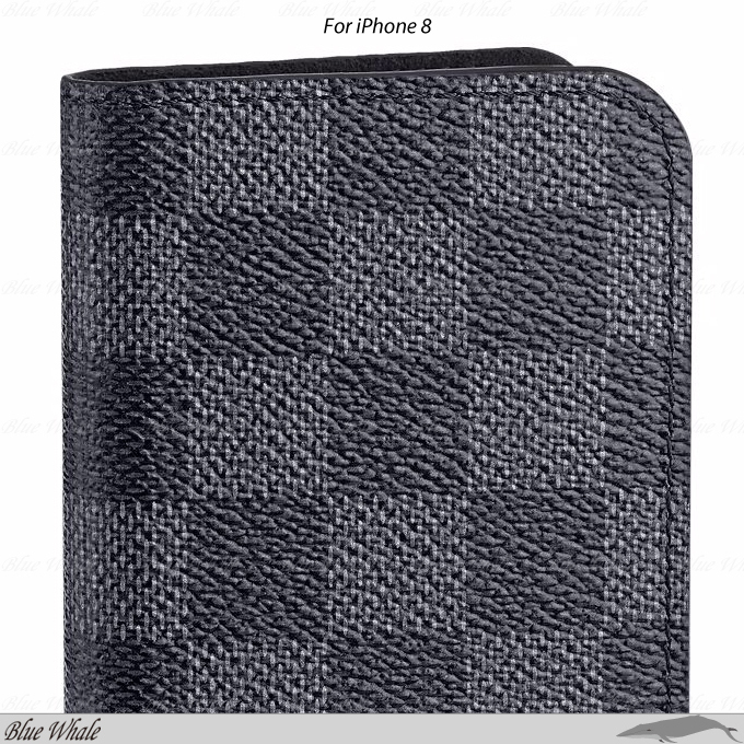 関税込◇LOUIS VUITTON◇DAMIER GRAPHITE☆iPhone 8 Folio Case