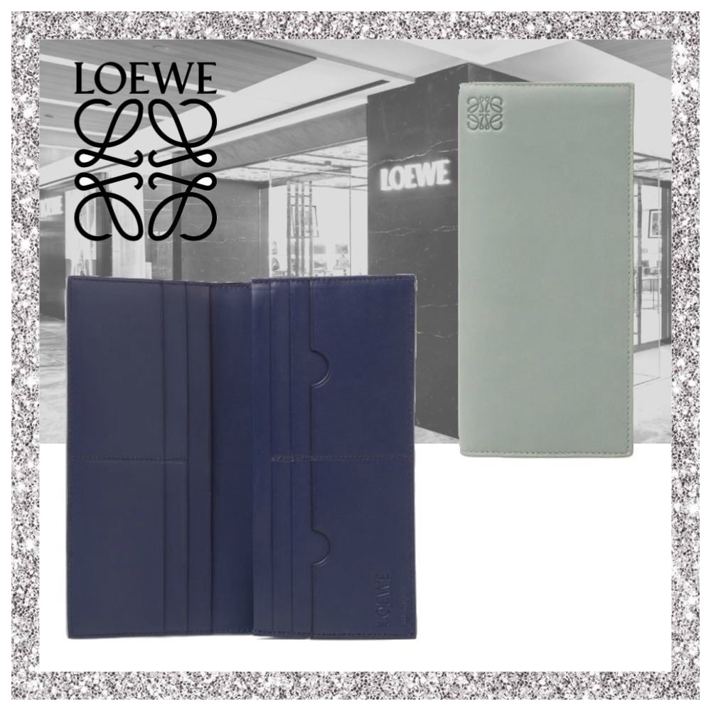 新作【LOEWE】Long Horizontal Wallet Cloud/Navy