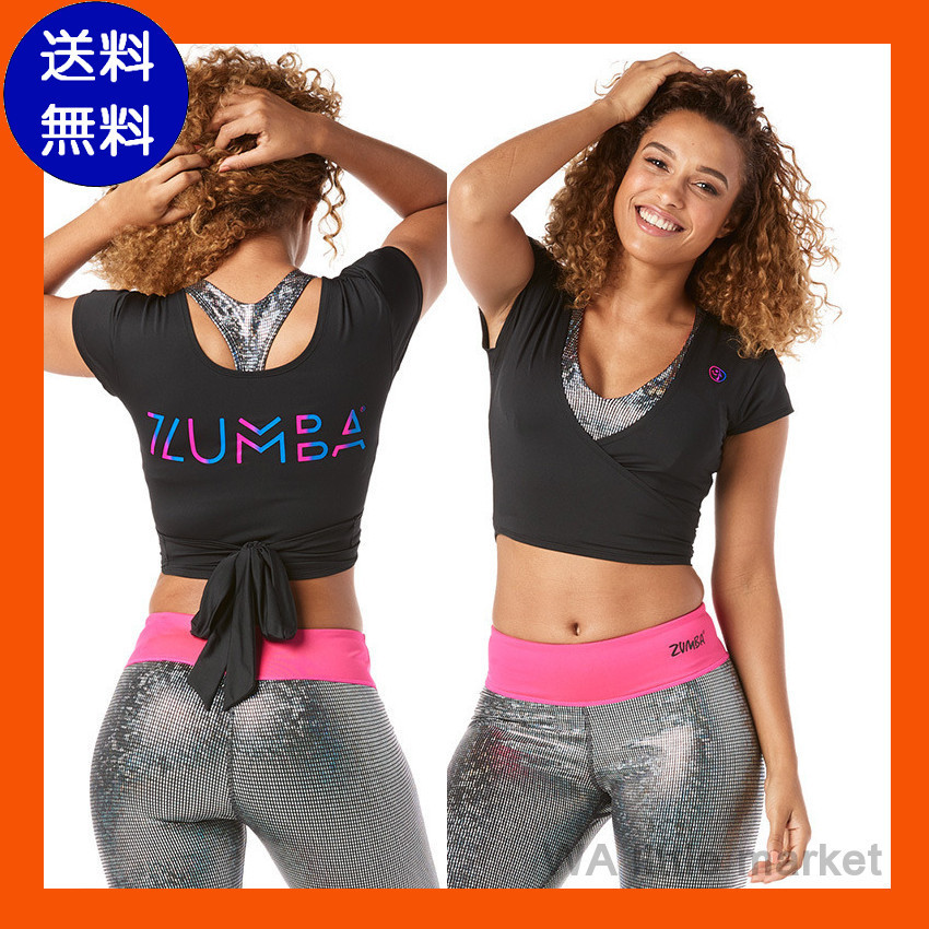 12月新作[送料無料]ZUMBA Fast Beats Open Back Tee★Bold Black