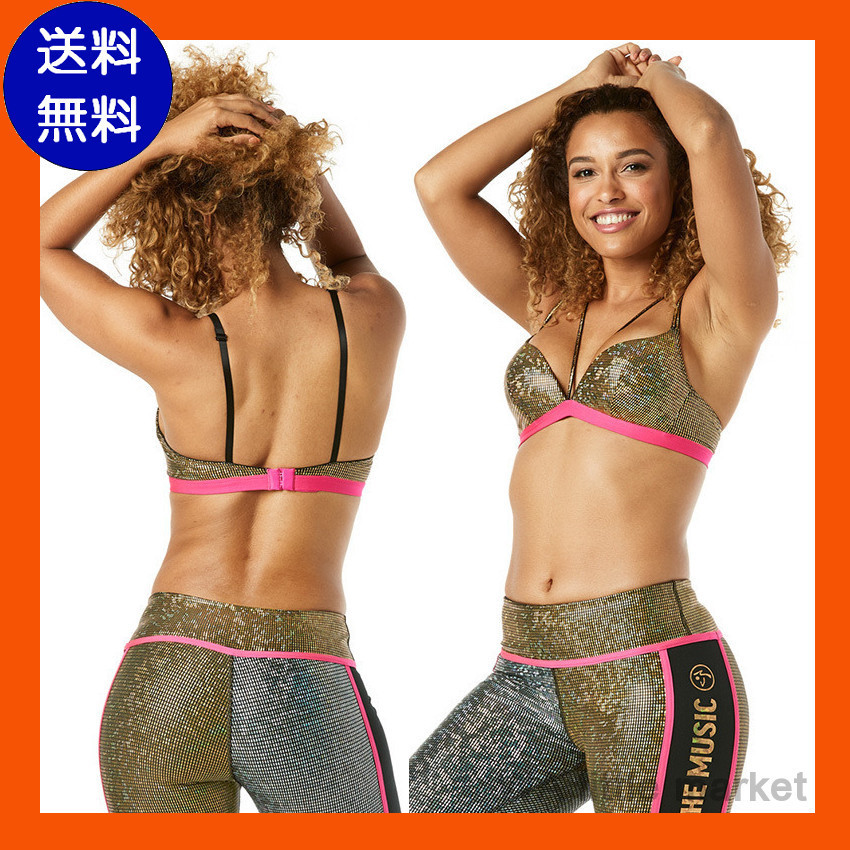 10月新作【送料無料】ZUMBA Light Up The Dance Floor Caged Bra