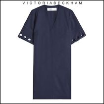 VictoriaVictoria Beckham★Laced Sleeve Wool Dress