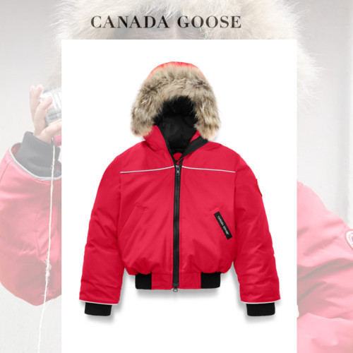CANADA GOOSE Grizzly Bomber シンプルにカッコよく レッド