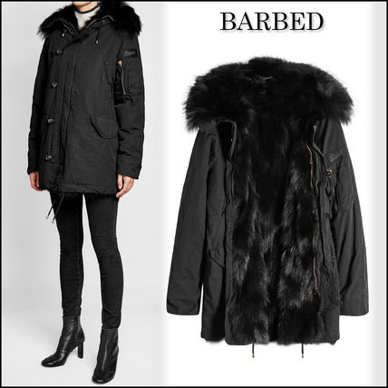 BARBED★Cotton Parka with Fur Lining and Trim