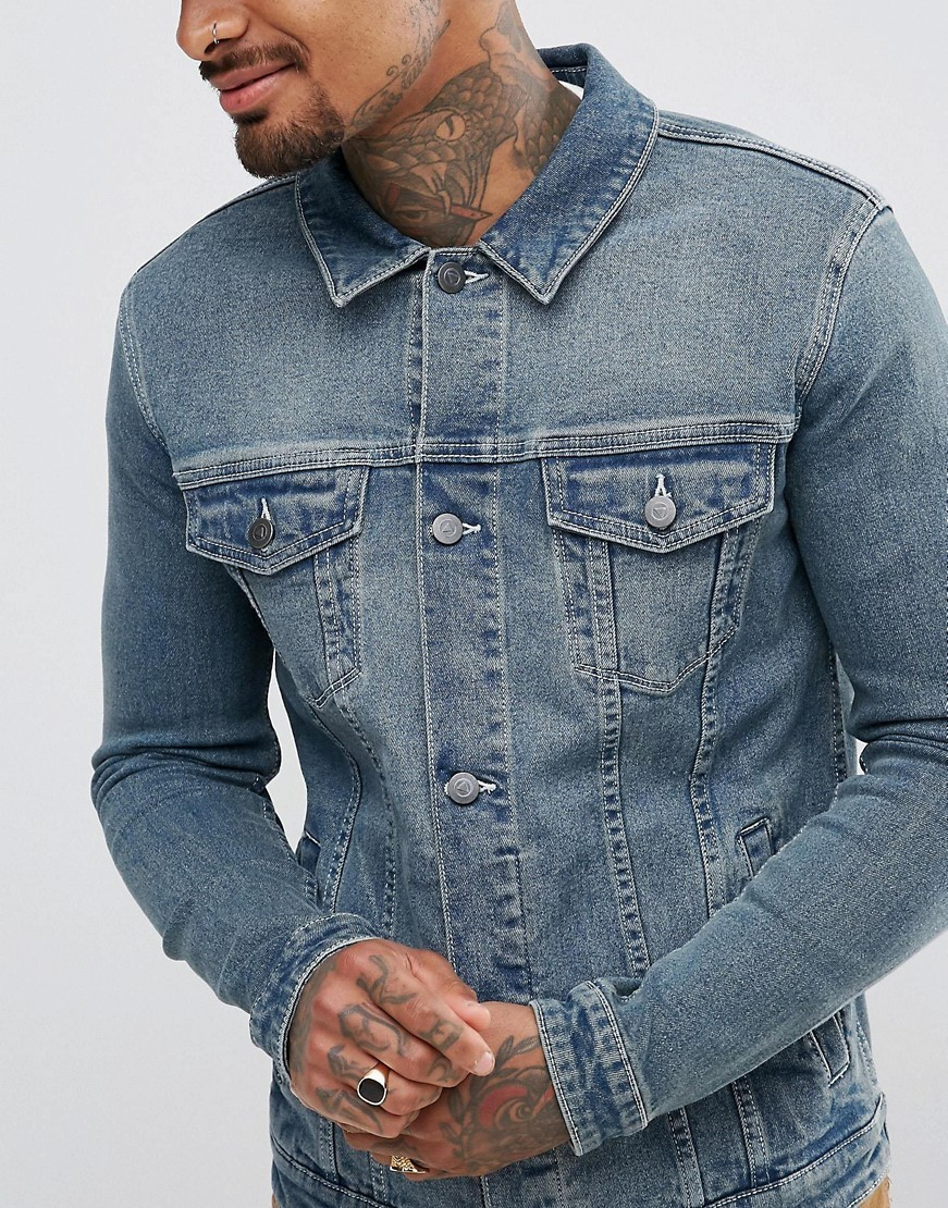 ○送料込○ASOS Skinny Denim Jacket in Blue Wash