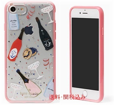 kate spade new york jeweled champagne iphone 7/8 case