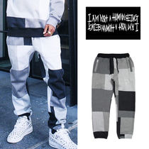I AM NOT A HUMAN BEING(ヒューマンビーイング) パンツ I AM NOT A HUMAN BEING◆Patch Work Sweat Pant