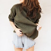 【即発】Over-sized Knit Pullover 《KHAKI》