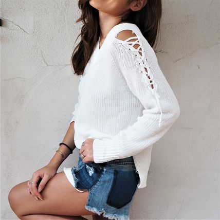 ニット・セーター 【即発】Shoulder Point Knit《WHITE》