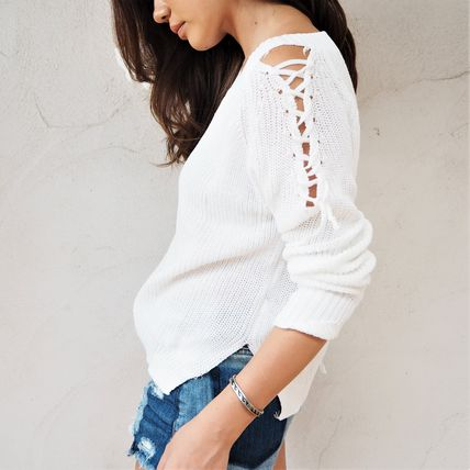 ニット・セーター 【即発】Shoulder Point Knit《WHITE》(4)