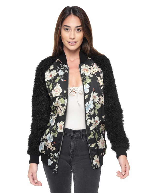 JUICY COUTURE ROUTE 1 BLOOM BOMBER JACKET 送料関税込