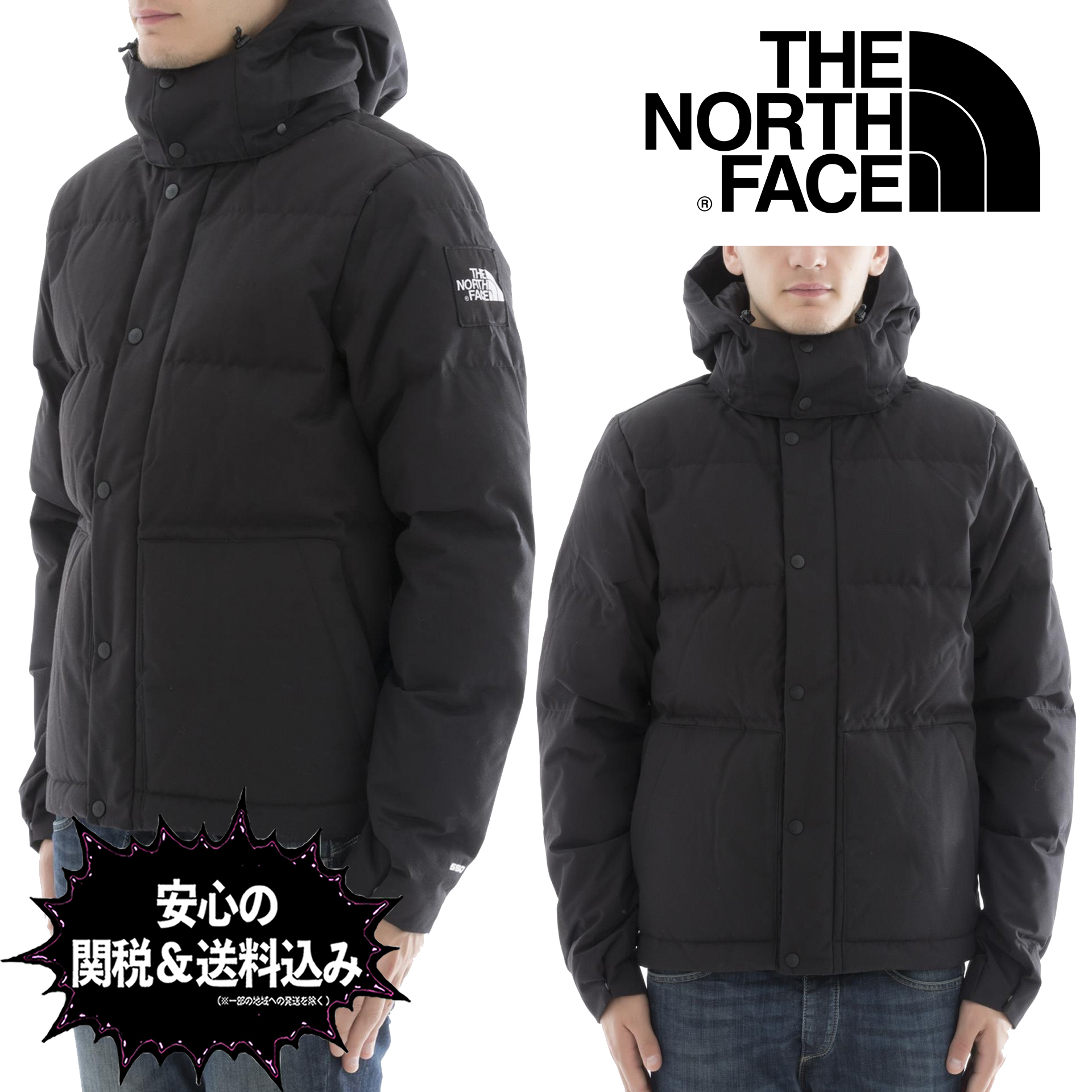 【安心の関税込】THE NORTH FACE・Black polyester down jacket