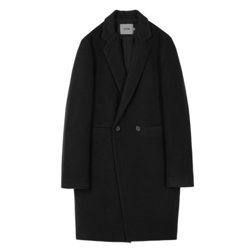 ★ACOVER★日本未入荷/HEAVY WOOL BLEND DOUBLE COAT(BK)