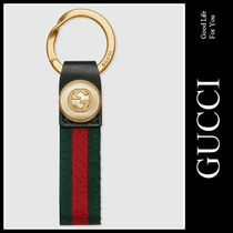 17AW☆GUCCI☆ナイロン ウェブ キーリング