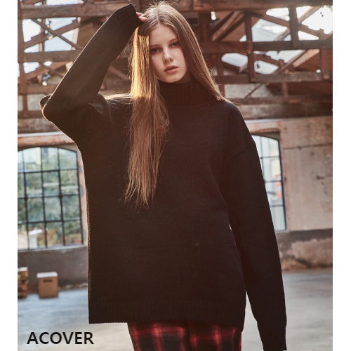 ★ACOVER★日本未入荷/TOWEL TURTLENECK SWEATER(BK)