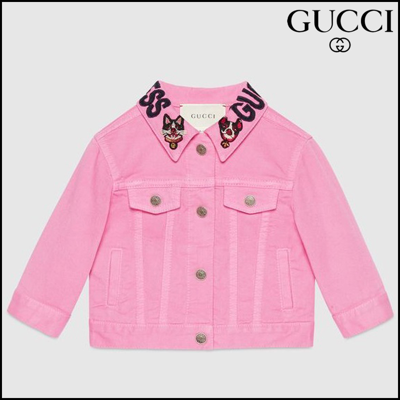 【GUCCI(グッチ)】 Baby denim jacket with Bosco and Orso