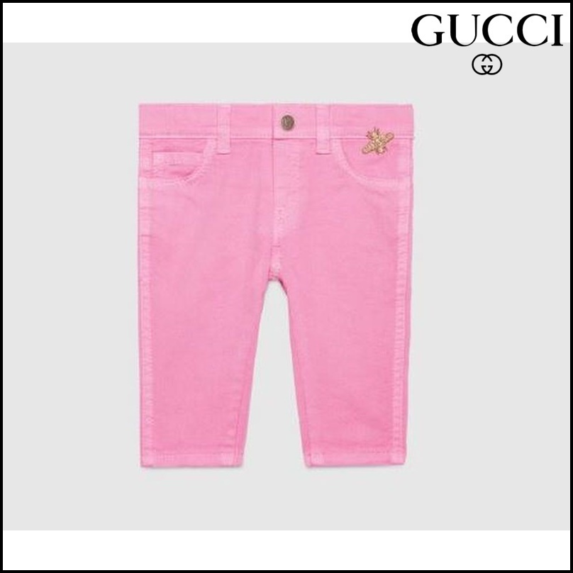 【GUCCI(グッチ)】 Baby stretch denim pant with bee