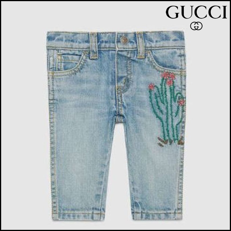 【GUCCI(グッチ)】 Baby embroidered denim pant