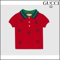 【GUCCI(グッチ)】 Baby polo with tiger heads embroidery