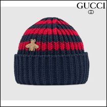【GUCCI(グッチ)】 Baby knit cotton hat with bee