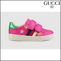 【GUCCI(グッチ)】 Toddler bees and stars leather sneaker