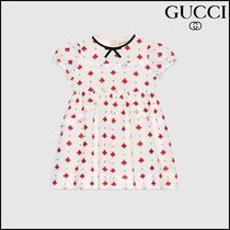 【GUCCI(グッチ)】 Baby dress with bees and dots embroidery
