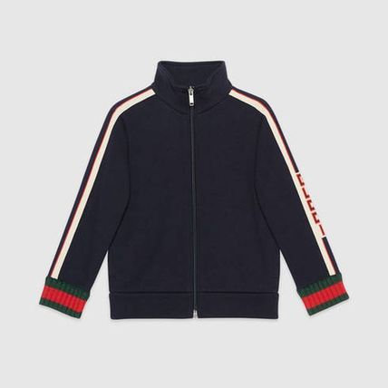 GUCCI キッズアウター 【GUCCI(グッチ)】 Childrens sweatshirt with Gucci jacquard (3)