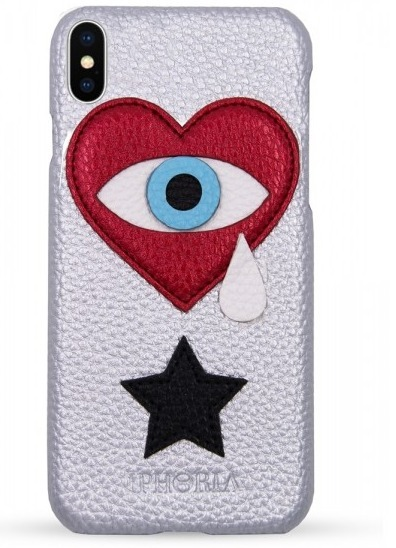 IPHORIA☆Veggie Leather Iphone X ケース- Heart Teardrop