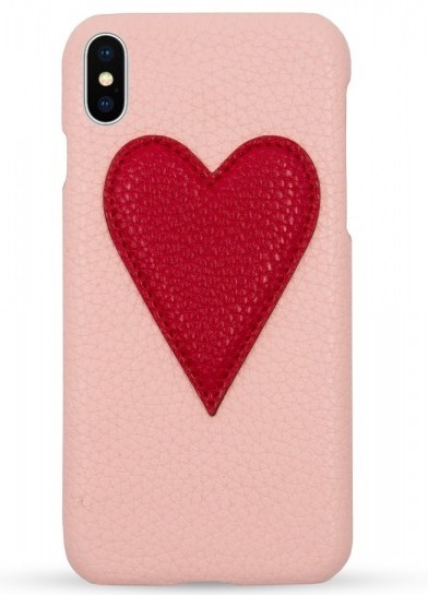IPHORIA☆Veggie Leather Case Iphone Xケース - Heart Nude Red