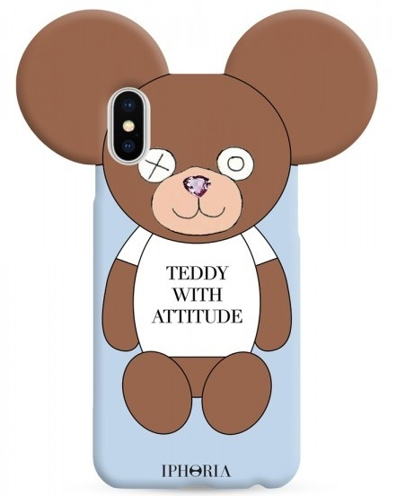 IPHORIA☆iPhone Xケース - Teddy with Attitude
