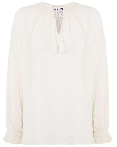 Polo Ralph Lauren Long Sleeve Blouse With Tie Front Detail