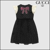【GUCCI(グッチ)】 Children's silk star flock dress