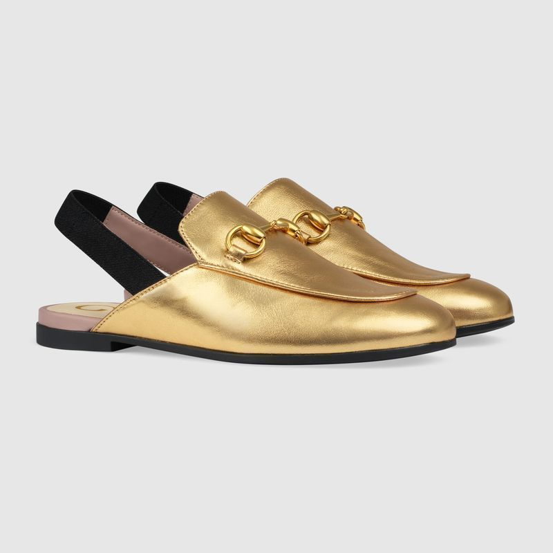 【GUCCI(グッチ)】 Children's Princetown leather slipper