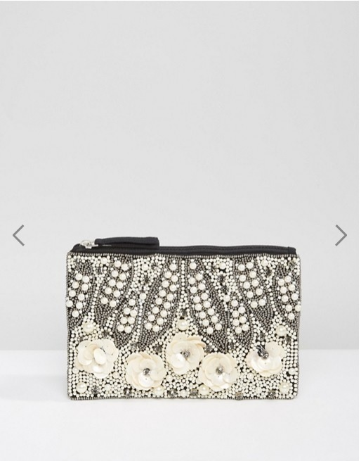 Park Lane Handmade Beaded Clutch Bag