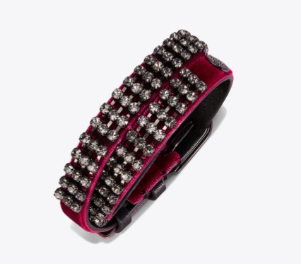 DOUBLE-WRAP CRYSTAL-EMBELLISHED BRACELET