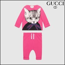 【GUCCI(グッチ)】 Baby jersey gift set with cat print