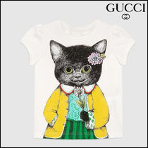 【GUCCI(グッチ)】 Baby cotton T-shirt with kitten print