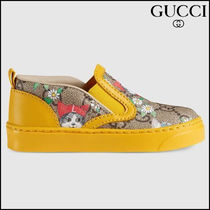 【GUCCI(グッチ)】 Toddler GG Gucci pets and flowers sneaker
