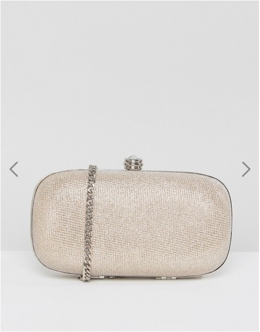Carvela Darling Silver Clutch Bag