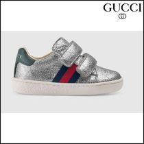 【GUCCI(グッチ)】 Toddler glitter sneaker with Web