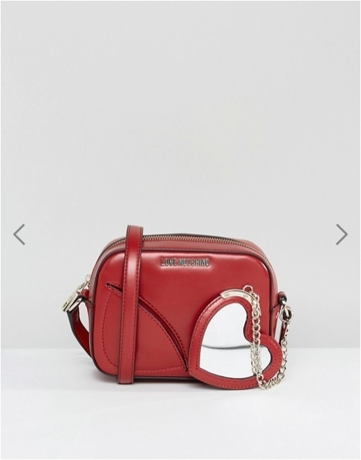 Love Moschino Cross Body Bag With Attached Heart Chain