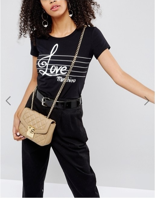 Love Moschino Quilted Cross Body Bag