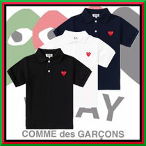 COMME des GARCONS(コムデギャルソン) キッズ用トップス ★COMME des GARCONS★贈り物にも 人気 PLAY HEART ポロシャツ