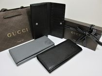 GUCCI★セール★LEATHER LONG WALLET 2色★即発送可能です♪