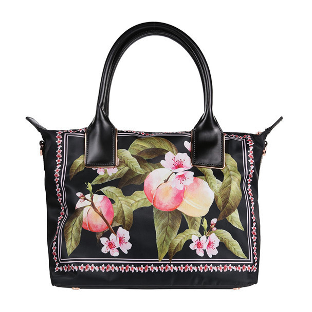 ★TED BAKER★Rubiaa 桃の花ナイロン トートバッグ (小) / Black