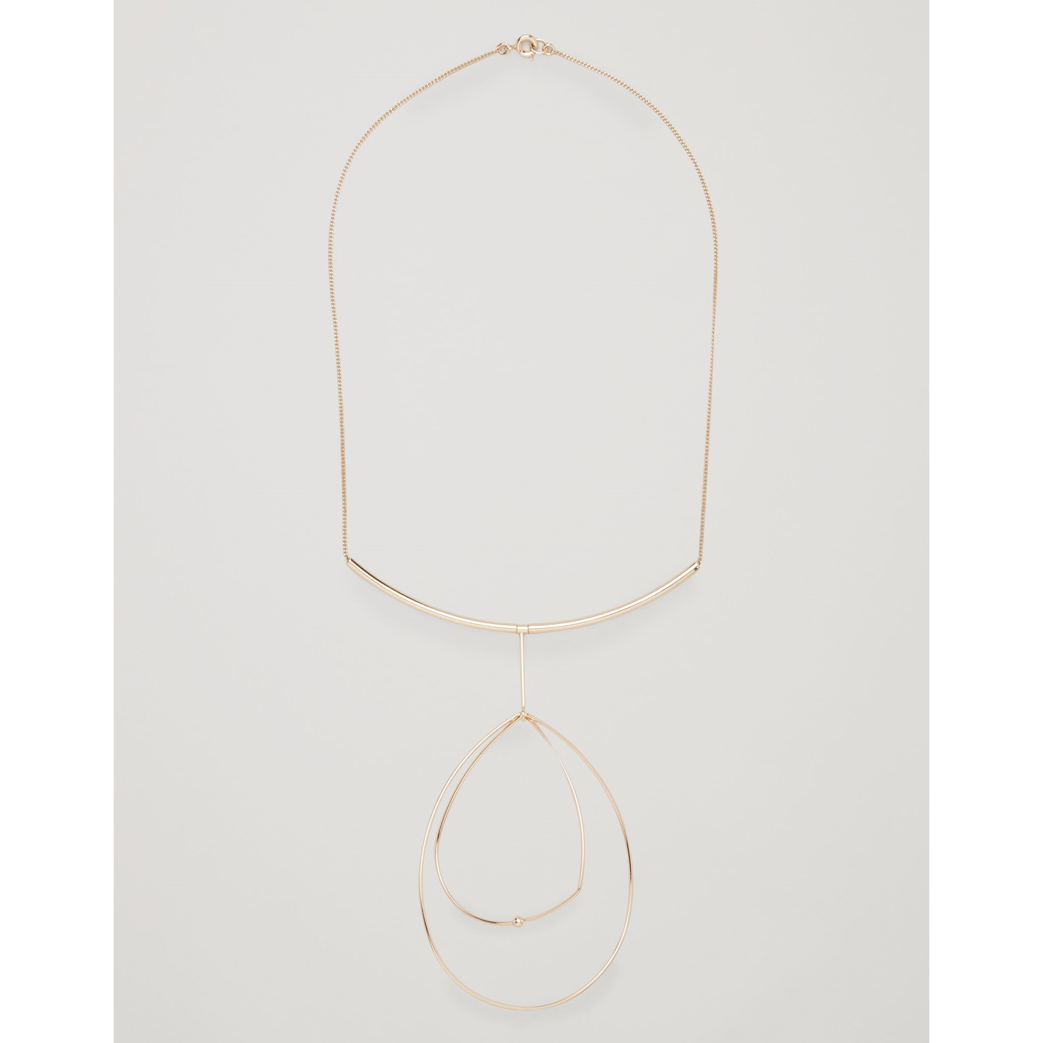 COS☆SHORT NECKLACE WITH FINE WIRE SHAPES / gold