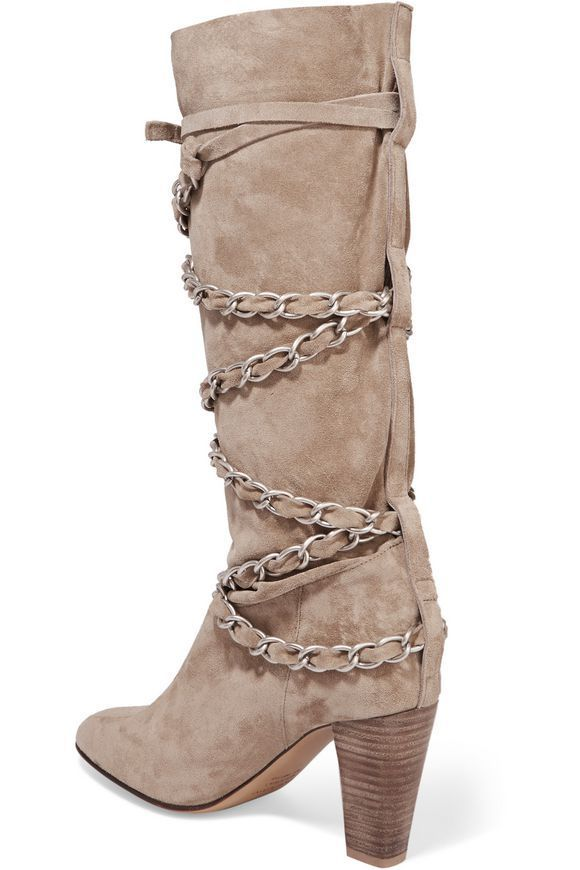 ISABEL MARANT Soono chain-trimmed suede boots 送料関税込
