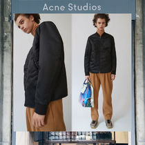 【17AW NEW】 Acne Studios_men/Mylon matt black/ブルゾンBK