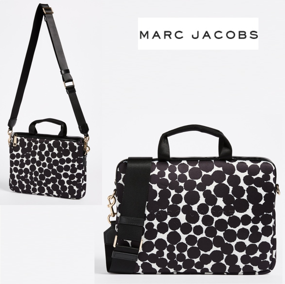 """★MARC JACOBS★Painted ドット 13"""" Commuter Case"""