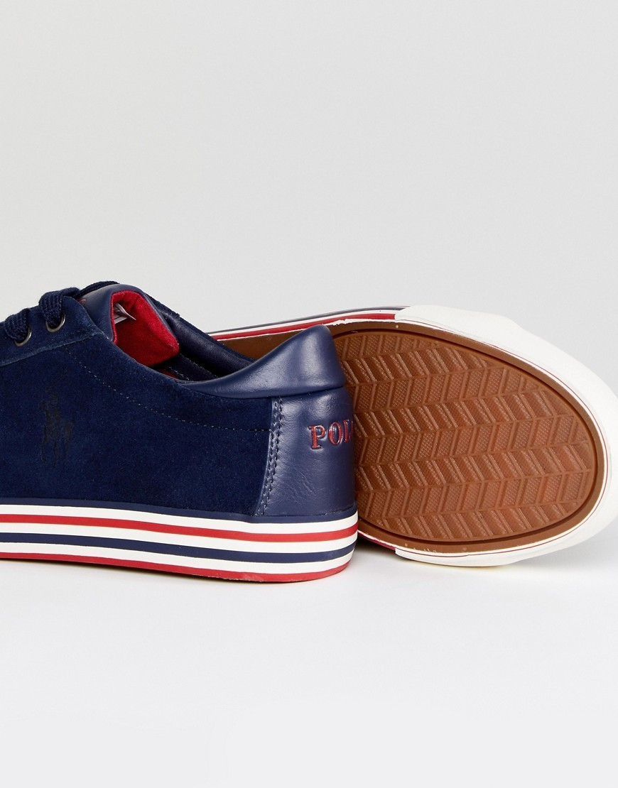 ◎送料込み◎Polo Ralph Lauren Harvey Trainers Suede in Navy
