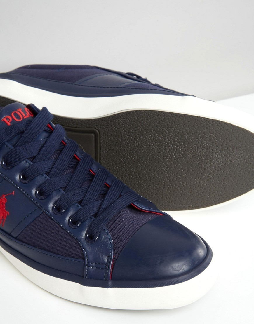 ◎送料込み◎Polo Ralph Lauren Churston Trainers in Navy